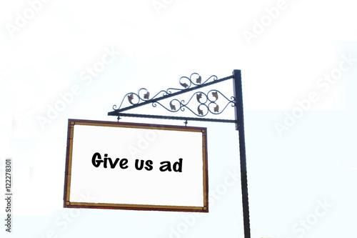 Poster Boş reklam panosu