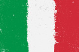 Fototapety Grunge flag of Italy with splash and spots