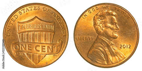 Plakat Lincoln Shield one cent coin