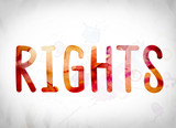 Rights Concept Watercolor Word Art