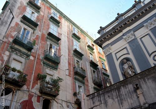 Papiers peints Naples Hausfassaden in Neapel