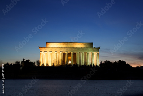 Lincoln Memorial Monument at Sunset, Washington DC Poster