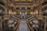 Stairway inside the Opera house Palais Garnier
