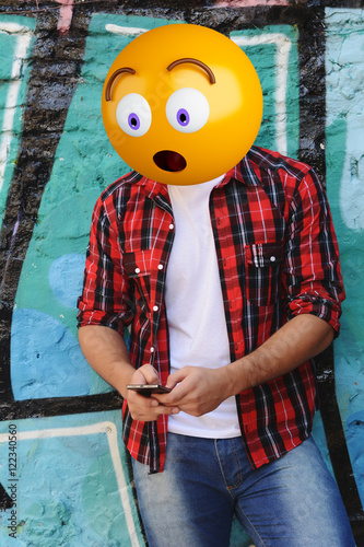 emoji head man Poster