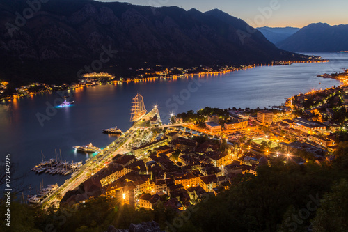 Kotor Skyline at night Poster