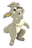 Cartoon rabbit - isolated - illustration for children