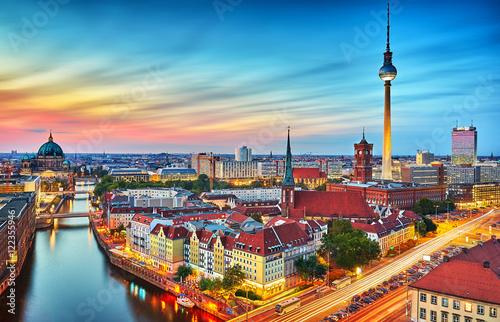 Foto op Canvas Berlijn Berlin Skyline