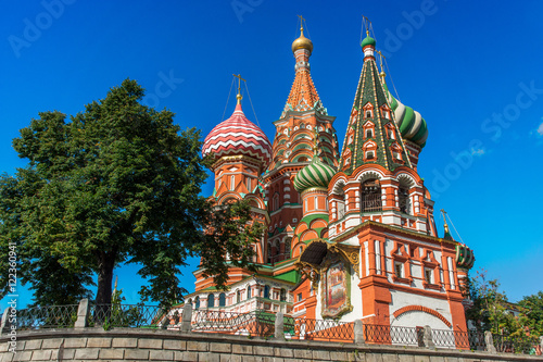 Poster, Tablou Moscow,Russia,Red square,view of St. Basil's Cathedral in summer