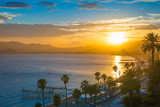 Fototapety Cannes bay French riviera at sunset. France.