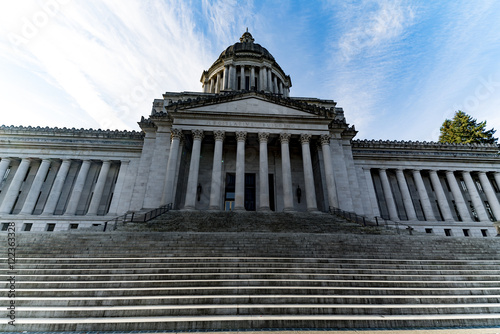 Washington State Legislative Building Outside Looking Up Stairs