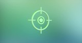 Animated Target Crosshair Color 3d Icon Loop Modules for edit with alpha matte