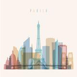 Paris skyline illustration.