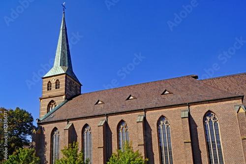 Leinwanddruck Bild Propsteikirche St. Cyriakus in BOTTROP ( Ruhrgebiet )