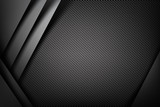 Fototapety Abstract background dark with carbon fiber texture vector illust