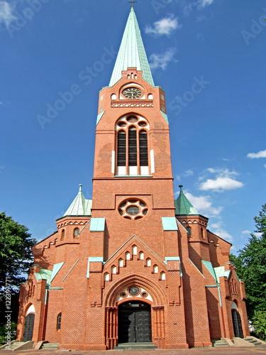 Leinwanddruck Bild Evangelische Dreifaltigkeitskirche in GELSENKIRCHEN