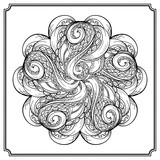 Vector round octopus tentacles pattern