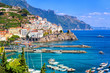 Quadro Amalfi town in southern Italy near Naples