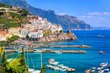 Miasto Amalfi w południowych Włoszech niedaleko Neapolu