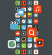 Different color icons of different apps