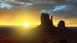 Beautiful Sunrise at Monument Valley, Arizona - 122431799