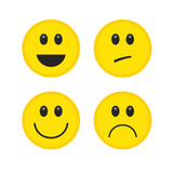 Emoticon. Vector style smile yellow face icons