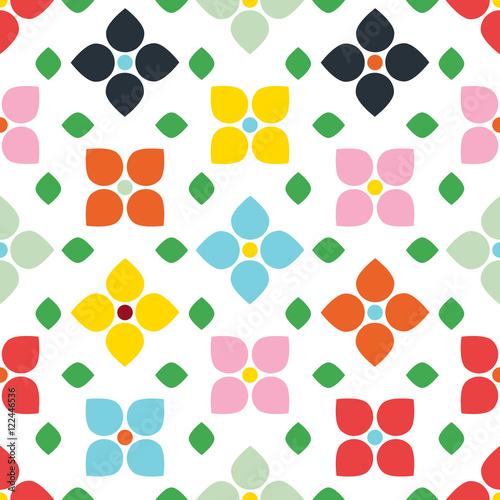 Scandi Style Flower Seamless Wallpaper - 122446536