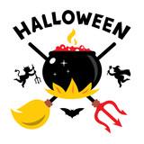 Vector Halloween Concept Cartoon Illustration.