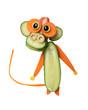 Amusing monkey made of vegetables on isolated background