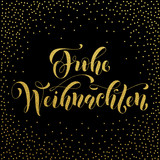 Frohe Weihnachten german Christmas gold greeting