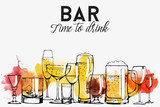 Alcohol drinks flyer design  - 122472330