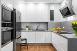 White kitchen in modern style idea - 122477329