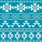 Seamless Navajo hand drawn print, retro Aztec pattern, Tribal design with scratches  - 122487750