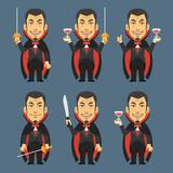 Vampire Holds Machete Sword Wine