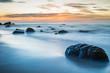 Quadro Sonnenuntergang an der Ostsee