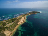 Aerial view of the tip of Mornington Peninsula
