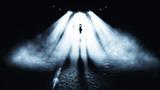 Fototapety Alien in Night. Horror  Background.