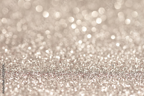 Poster Silver glittering christmas lights