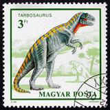 Postage stamp Hungary 1990 Tarbosaurus, Prehistoric Animal