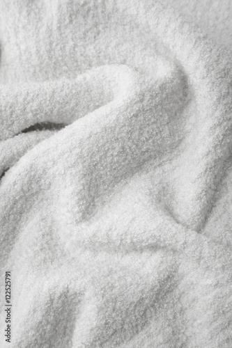 Poster A full page of soft white jumper fabric background texture