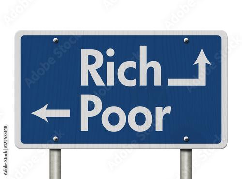 Being Rich versus Poor Poster