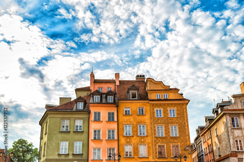 Central part of Warsaw, Poland