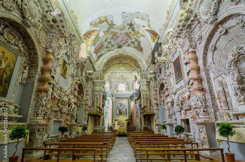 Keuken foto achterwand Palermo Interior of the Church of Santa Maria di Valverde in Palermo, Sicily, Italy
