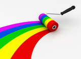 paint roller concept  3d illustration