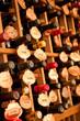 Wine Bottles in a wine cellar, narrow depth of field