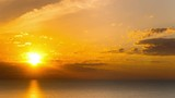 4k.Sea  or ocean nature sunrise. Time lapse  without birds.