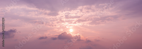 Panorama Sunset Sky Background With The Colors Of Rose Quartz And
