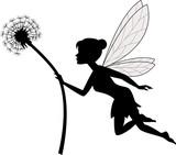 Fairy holding dandelion