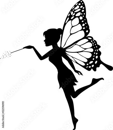 Fairy Waving Her Wand   - 122596901
