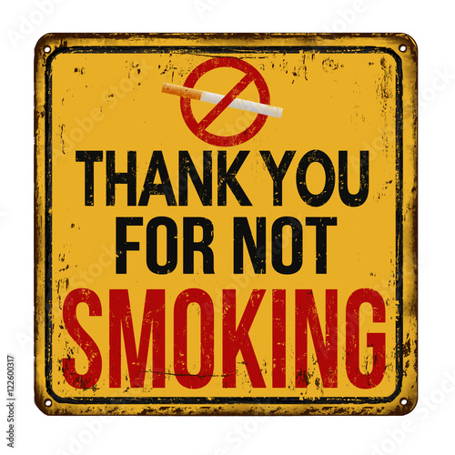 Thank you for not smoking vintage retro sign