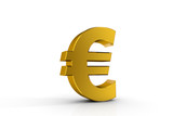 3d illustration currency sign of euro